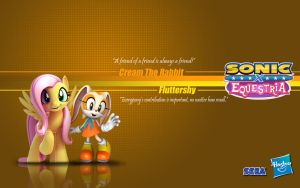 Sonic X Equestria: Cream and Fluttershy by Fuzon-S