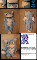 Shade The Wolf Plushie_FIN by f-sonic