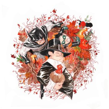 Little Gotham Thanksgiving! by duss005