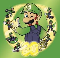 Luigi - 30 years together by WildGirl91