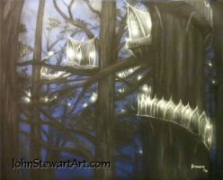 Lord of the rings Lothlorien Painting for sale by johnstewartart