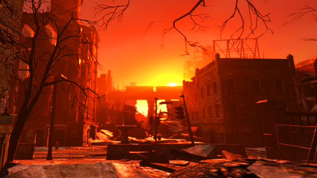Sunset Over the Wasteland by Wintergleam