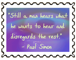 Paul Simon quote stamp by reddartfrog