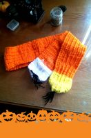 Candy corn scarf by ravenaudron