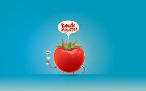tomate wallpaper by rauldraws