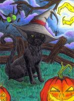 ACEO - Happy Halloween by o-Anubis-o