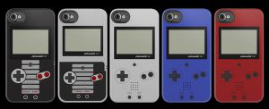 Gameboy Advance SP iPhone Cases by V-spitter