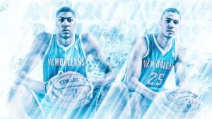 Davis and Rivers 'Dynamic Duo' Wallpaper by rhurst