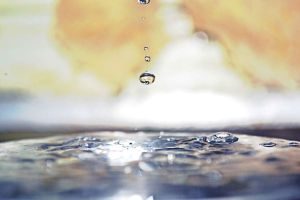 Water drop falling by musi1