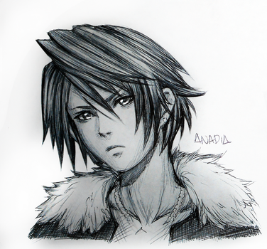 Day #11: Squall by Anadia-Chan