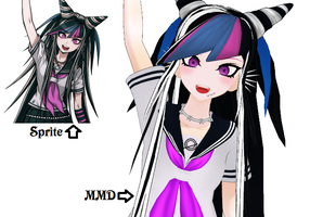 Sprite vs MMD Cheerful Ibuki by Eripmav-darkness