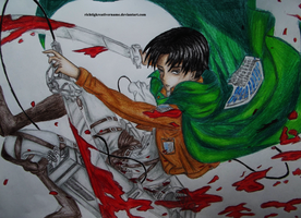 Shingeki no Kyojin | Levi Ackermann by richtigkreativername