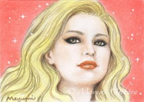 Golden Beauty (ACEO) - sketch by MayumiOgihara