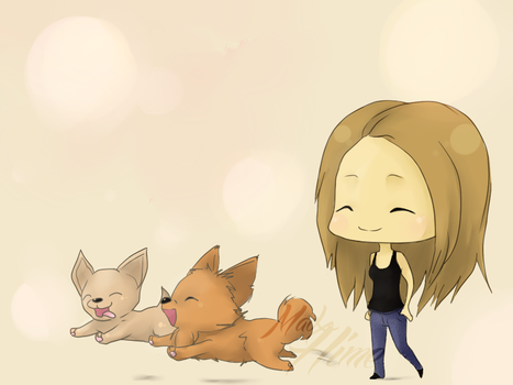 Walk time for puppies ! by MadxHime