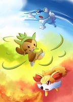 Pokemon Gen 6 Starters! by suzuran