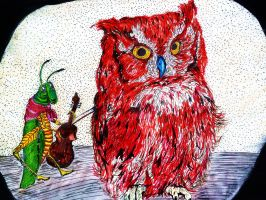 Aesop's Grasshopper and the Owl by DadaGirl87
