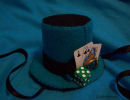Turquoise Lolita Hat by Lophiomyinae
