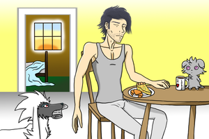 Professor Sycamore in the Morning by NekozRuleMe