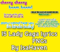 15 Lady Gaga Lyrics PNGs by IsaHaven