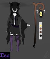 [Supernatural/Horror OC] Dea Ref by ChaoticPuppetMaster
