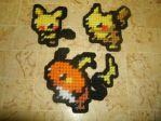 Pokemon Sprite Magnets - Pikachu Family by UWorlds