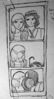 Sam and Joon in a photo booth by Adellade
