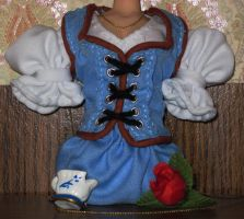 OUaT Belle's dress sewn by HollyRoseBriar