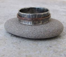 Silver Copper Spinner Ring by SilverSmack