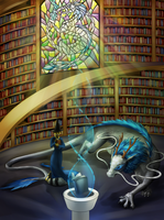 Commission - Trogonostica's Library by Cryophase