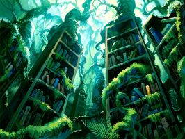 Lost Library by Denewer