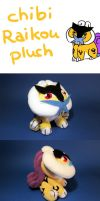 Chibi Raikou Plush by Luminous-Luchador