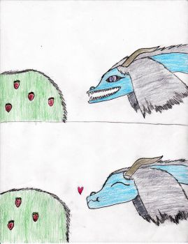 Merone Eats a Strawberry~ by sailorcupcake