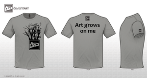 DA Gray t-shirt with trees by 2GodBtheGlory
