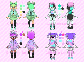Street Style Inkling Adoptables Set 1 CLOSED by Ghiraham-Sandwich