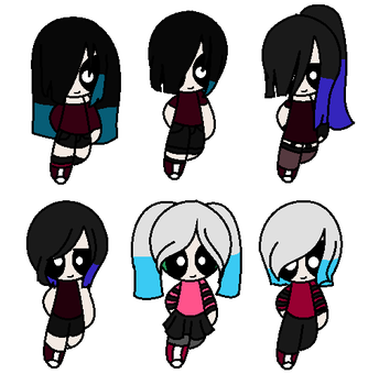 Amy's versions by ShadowVamp5619