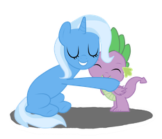 Trixie and Spike by sofilut