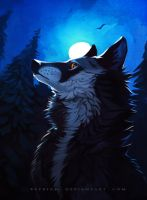 Bright of the moon by Keprion