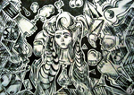 Picasso - Women of Algiers (modified recreation) by NadiaCoelho