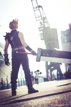Cloud Strife - The Mission Begins by SketchMcDraw