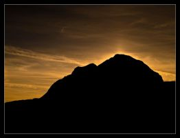 Liathach Silhouette by ExSLR