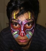 Majora's Mask Face Paint by equinoxx77