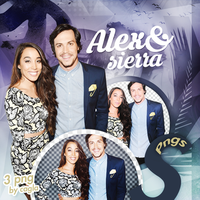 Alex and Sierra Png Pack by Katycatcgl