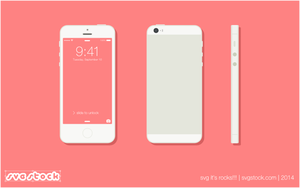 Iphone 5 Flat by SVGStock
