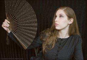 grey pinstripes with fan by fragilemuse-org