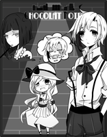 EE - Noir AU by RabuRabbit