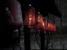Lanterns at Confucius Temple by caitlyn1701