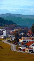 Autumn season village panorama by patrickjobst