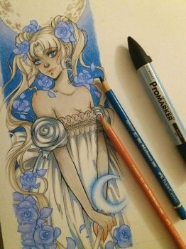 Sailor Moon: Serenity (Bookmark) by Dar-chan