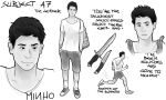 The Maze Runner character sheets: Minho by MrsKanda