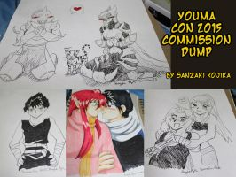 Youmacon 2015 Commission Dump by kojika